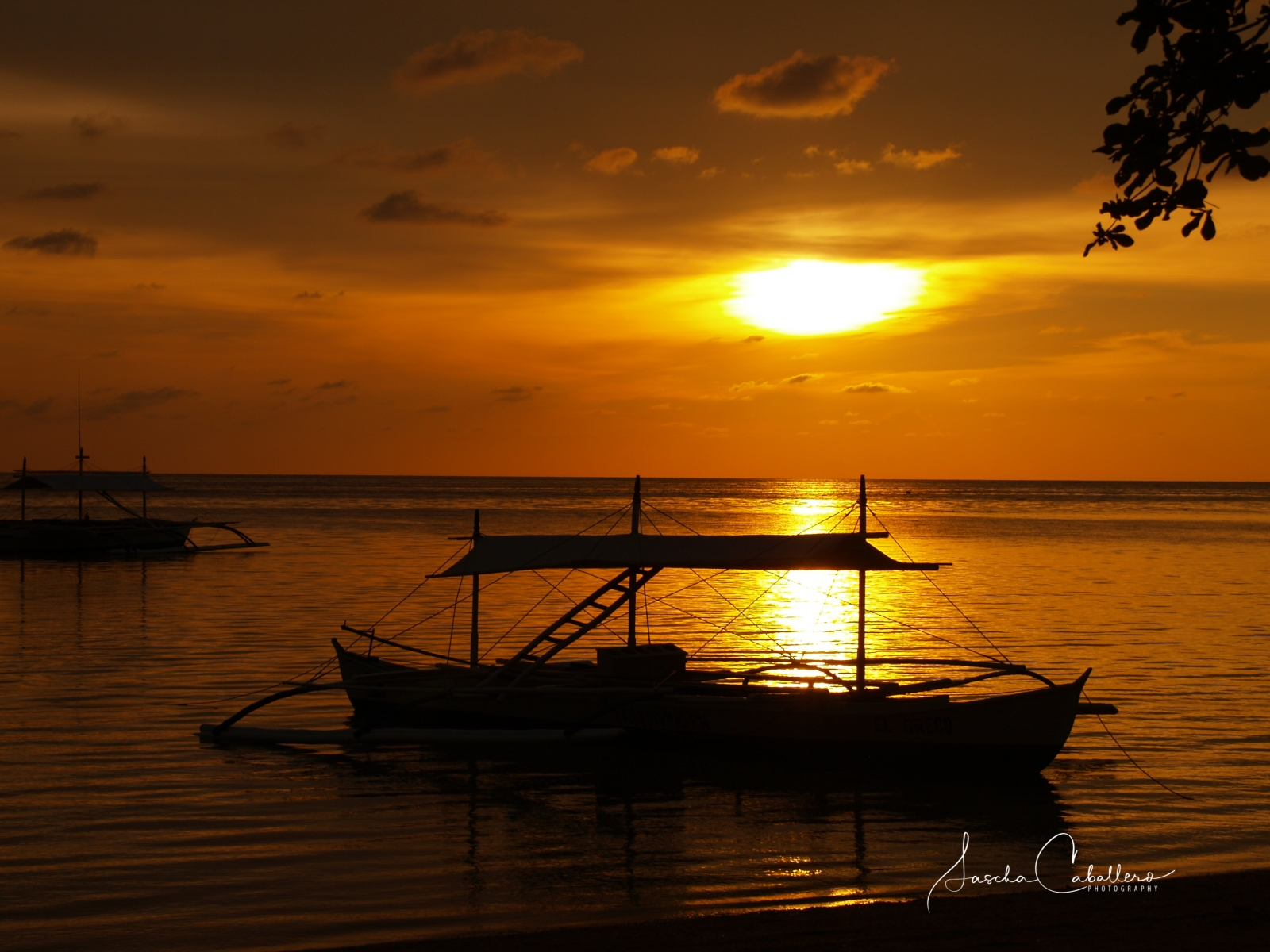 Sonnenuntergang direkt am Beach
